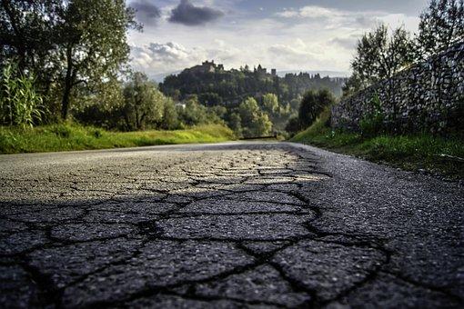 Road, Tuscany, Italy, Italian, Field, Landscape, Nature
