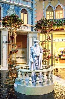 Venetian, Statue, Las Vegas, Tourism, Architecture