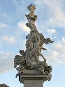 Wallsee, Figurenbildstock, Maria Immaculata