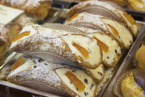 Dessert, Italian, Cannoli, Cream, Sweet, Pastry, Bakery