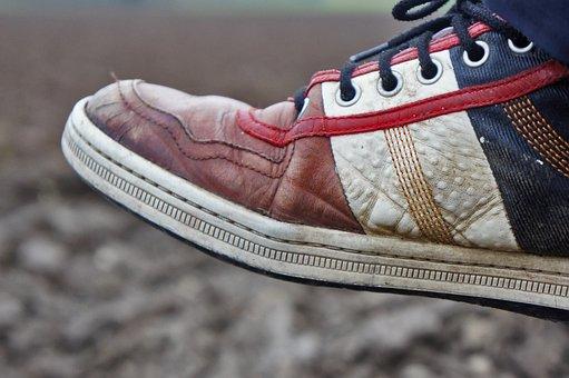 Shoe, Foot, Shoes, Clean, Red, Ausgelatscht, Feet, Ten