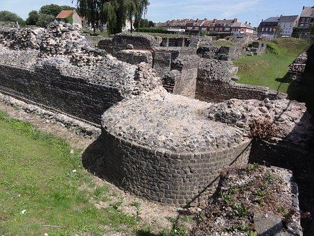 Bavay, Bagacum, Roman, Ruins, Remains, Building, Old