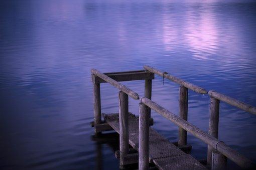 Lake, Sunset, Romantic, Water, River, Sea, Ocean, Clear