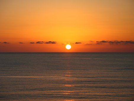Sicilian Sunset, Sun, Sea, Evening, Sicily, Atmosphere