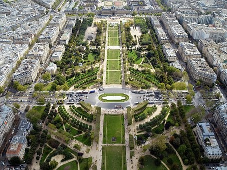 Garden, Champ De Mars, Tourism, Sightseeing