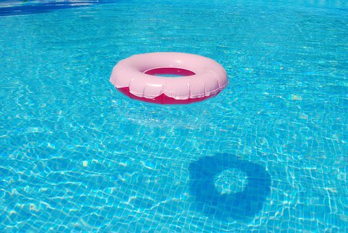 Floating Tire, Summer, Water, Wave, Clear, Colorful