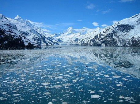 Glacier Bay, Alaska, Lake Water, Reflections, Sky