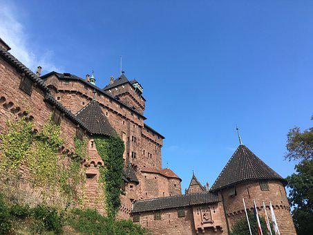 Castle, The, Haut-koenigsbourg, France, Alsace