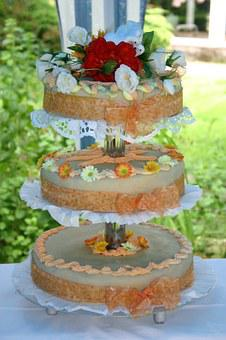 Wedding Cake, Cake, Floors, Marzipan, Wedding, Dessert