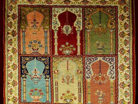 Carpet, Linked, Silk, Picture Carpet, Art, Expensive