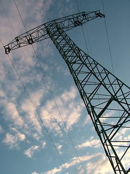 Sky, Electricity Pylon, Electricity, Voltage, Clouds