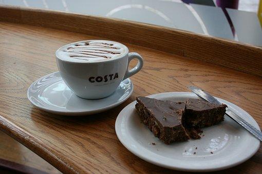 Coffee, Cup Of Coffee, Chocolate Cake, Coffee Break