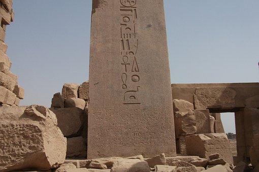 Hieroglyphics, Egypt, Luxor, Karnak, Inscription