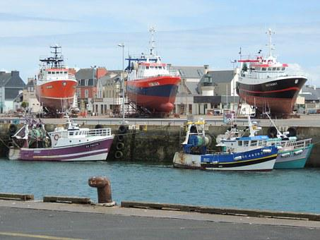 Fishing, Port, Trawler, Brittany, Finistère, Guilvinec