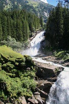Waterfall, Krimmler Wasserfall, Water, Nature