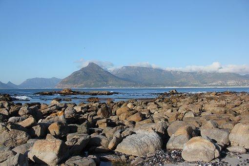Rocks, Sea, Mountain, Southafrica, Capetown, Sky, Ocean