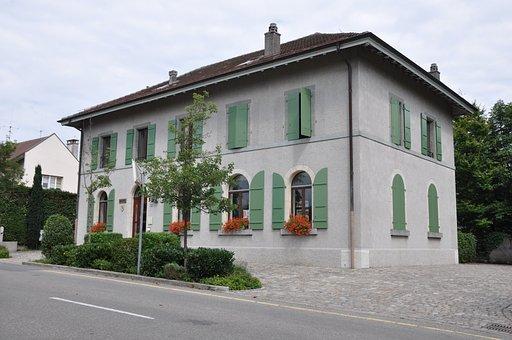 Laconnex, City Hall, Geneva, Neighborhood, Europe