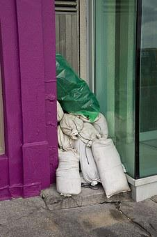 Bags With Sand, Tide, Flood, Protection
