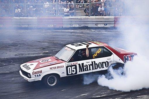 Car, Burn Out, Burn, Smoke, Race, Race Car, Driver