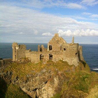 Dunluce Castle, Ruin, Rock
