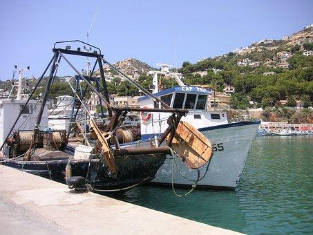 Trawlers, Boats, Mooring, Dock, Port, Boat, Sea, Coast
