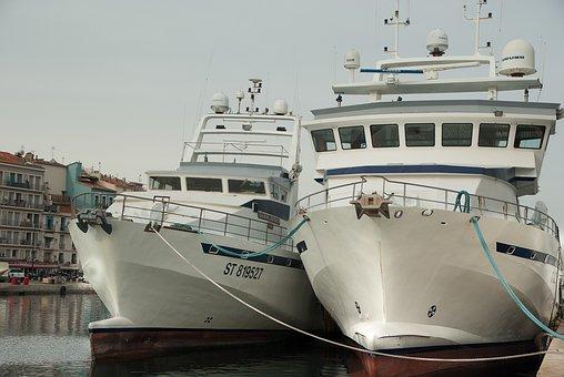 Sète, Trawlers, Fishing, Port, Wharf
