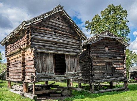 Hut, Building, Skansen, Traditional, House, Sweden