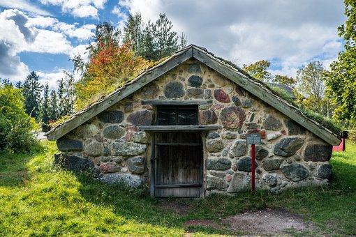 Hut, Skansen, Traditional, House, Sweden, Stockholm