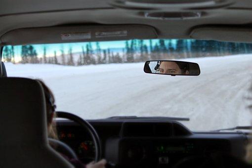 Van, Car, Tour, Tour Guide, Alaska, Winter, Vehicle