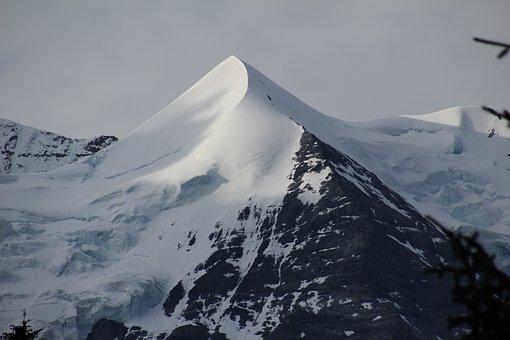 Switzerland, Wengen, Mountain, Snow, Peak, Cold