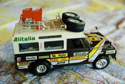 Vehicle, Miniature, Rally Raid, Adventure, 4x4