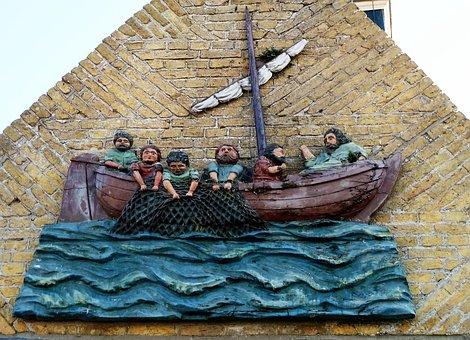 Fishing Boat, Bible, Apostles, Jesus, Parable, Storm