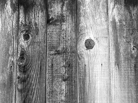 Background, Wood, Board, Structure, Fence, Black, White