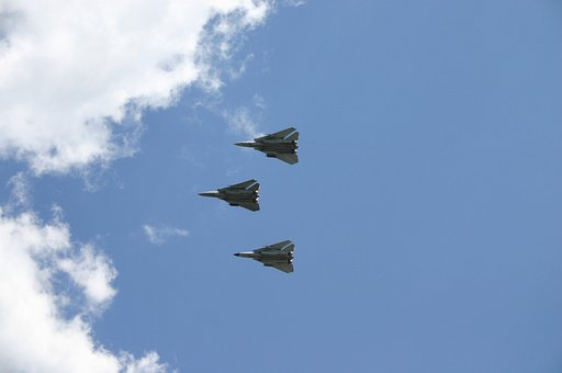 Military, Jets, Airplane, High Speed, Aircraft, Blue