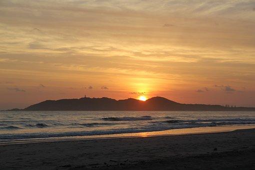 Sunrise, Byron Bay, Coast, Ocean, Seashore, Dawn