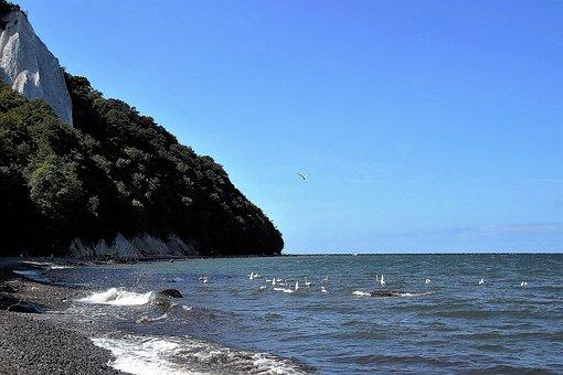 Rugen, Chalk Cliffs, White Cliffs, Sea, Germany
