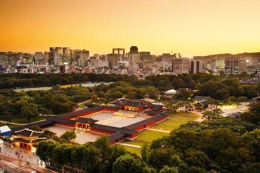Changgyeonggung, Night View, Sunset