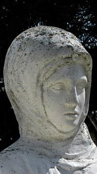 Cyprus, Vrysoules, Mother, Sculpture, Monument