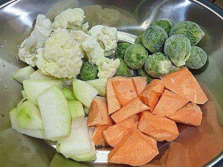 Vegetables, Flat, Food, Kitchen, Eat, Vitamins