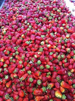 Strawberry, Food, Fresh, Pile Of Strawberries