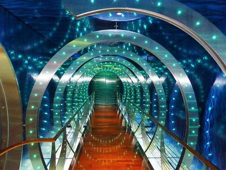 Led-lighting, Lights, Ledsnoer, Tunnel, Gang, Around