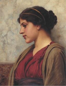 Art, Artwork, Painting, John William Godward, 1890