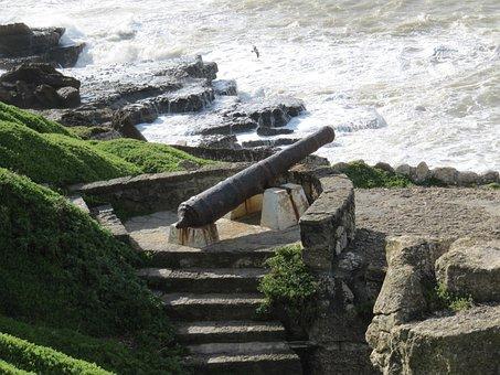 Ericeira, Portugal, Monument, Gun, Coast