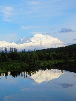 Denali, Reflection, Alaska, Mckinley, Mount, Mountain