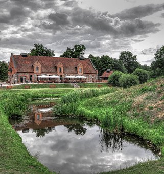Ulrichhusen, Castle, Müritz, Home, Pond