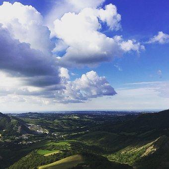 Sky, Landscape, Italy, Green, Nature, Rimini, Clouds
