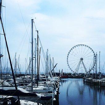Porto, Boathouse, Rimini, Sea, Italy