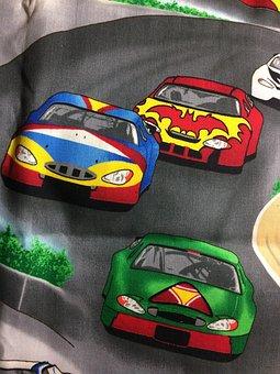 Sports, Racing, Nascar, Fabric, Cars, Racing Fabric