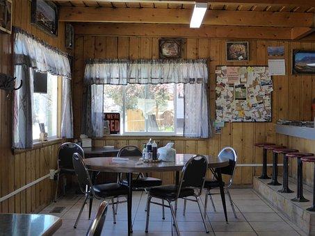 Food, Restaurant, Retro, Dinner, Usa, Lunch Room, Old