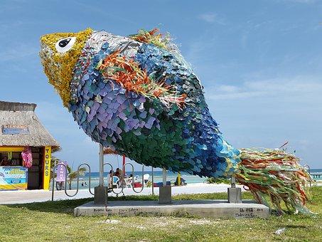 Fish, Statue, Roo, Majahual, Mexico